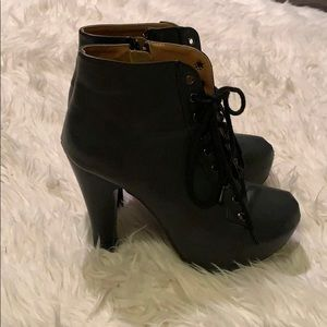 Lace-up Heeled Booties